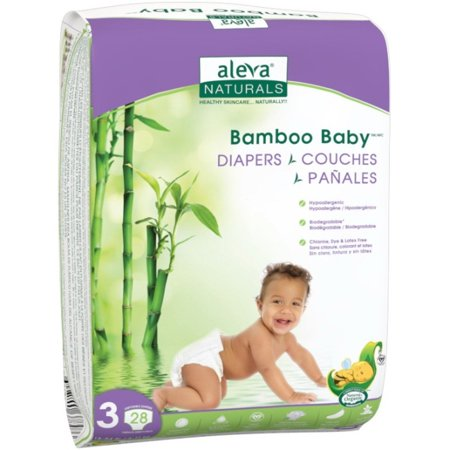 Image of Aleva Naturals Bamboo Baby ® Diapers, Size 3, 28 Diapers