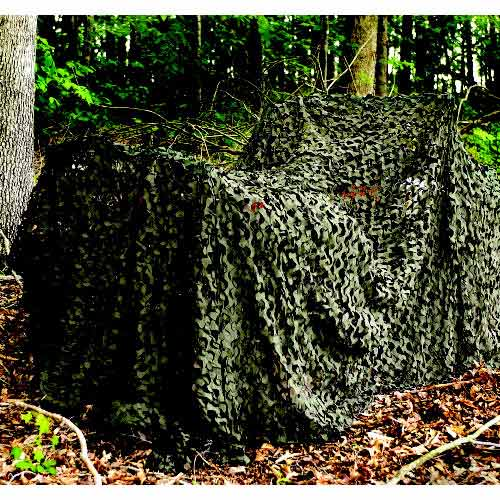 "Camo Unlimited Pro Military 9' 10"" x 19' 8"" Camouflage Netting, Woodland, Green and Brown"