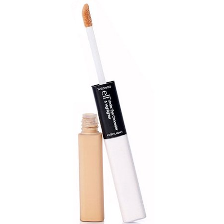 e.l.f. Cosmetics Under Eye Concealer & Highlighter, Light/Glow ...