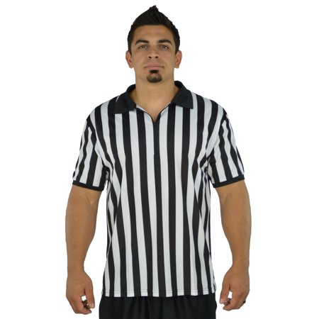 Mens Referee Shirts/Umpire Jersey with Collar for Officiating + Costumes + More! for $<!---->