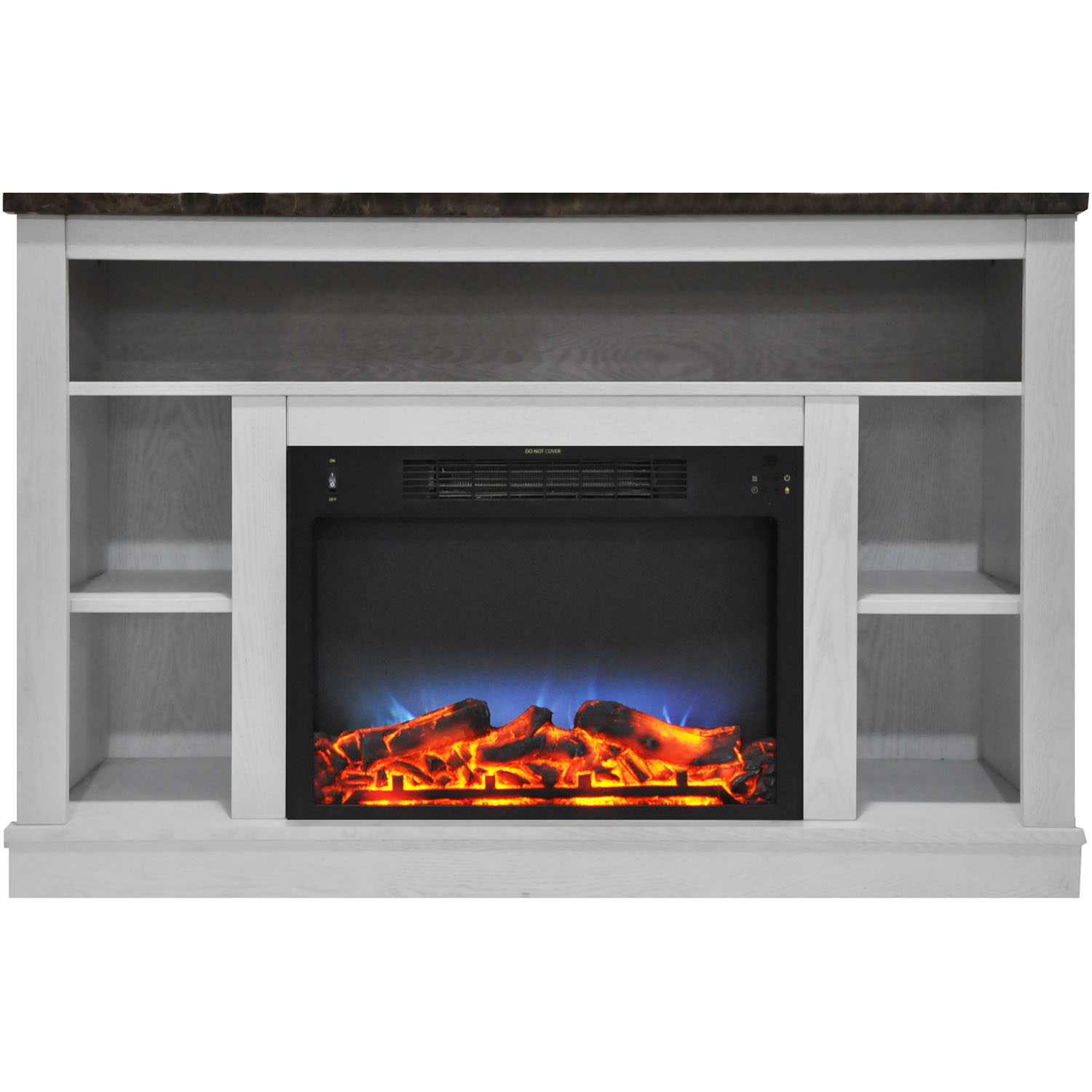 "Cambridge Seville 47"" Electric Fireplace Mantel Heater with Multi-Color LED Flame Display"
