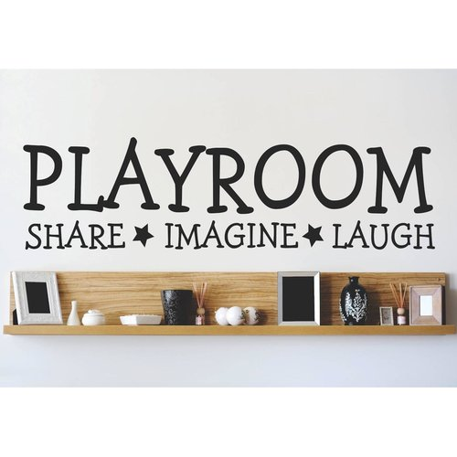 Design With Vinyl Playroom Share Imagine Laugh Wall Decal