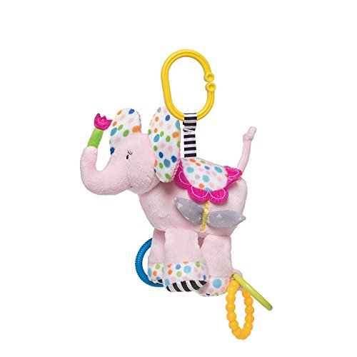 Manhattan Toy Blossoms Elephant Rattle & Teether by Manhattan Toy