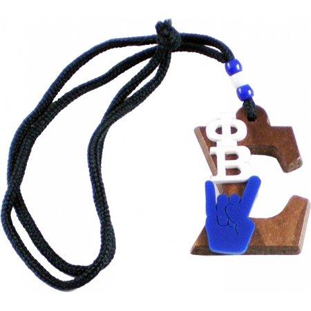 Sigma Letter - Phi Beta Sigma Wood Big Letter Hand Sign Symbol Medallion [Brown - 2.75
