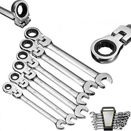 Flexible Ratcheting Wrench Set,6Pcs Gears Wrench Set Open End Wrenches Activities Ratchet Repair Tools To Bike Torque Combination Spanner Allen Keys Allen Wrench Bike Tool