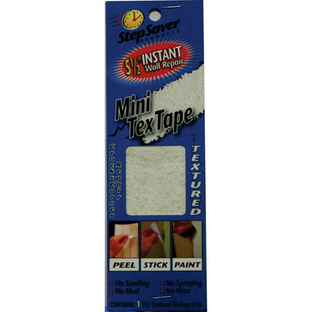 Stepsaver Instant Repairs Mini Tex Tape, Textured Surface for Small Stress Cracks