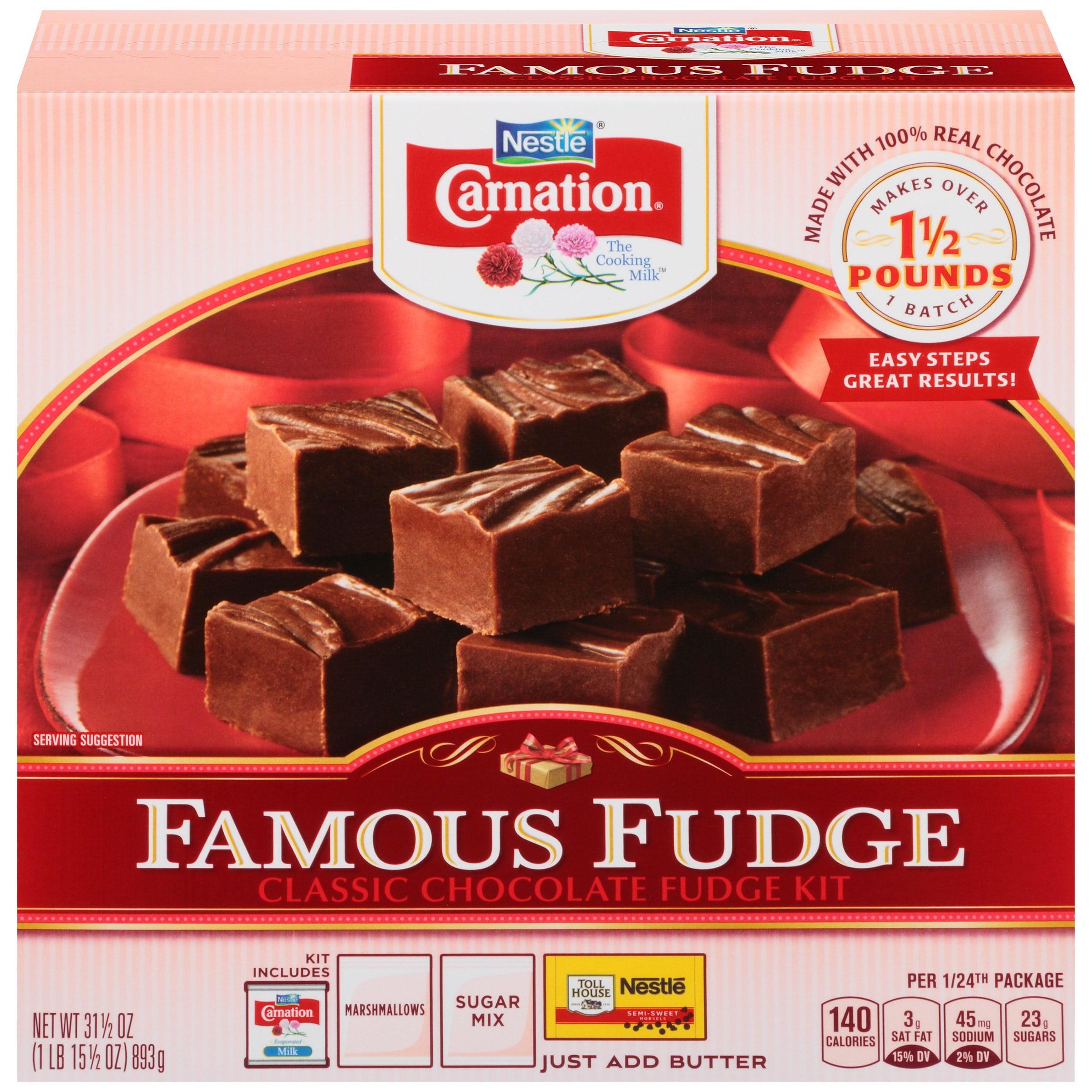 Carnation Famous Fudge Classic Chocolate Fudge Kit 31.5 oz. Box