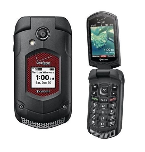 Kyocera DuraXV Dura XV E4520 Flip Refurbished Black (Verizon) Rugged Cell Phone (Page Plus)