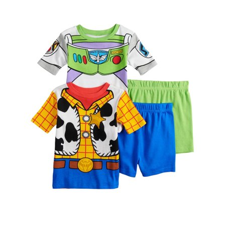 Toy Story 4 Toddler Boys 4 piece Tee Shorts Cotton Pajamas Set 21TS036ESS - Baby Toy Story