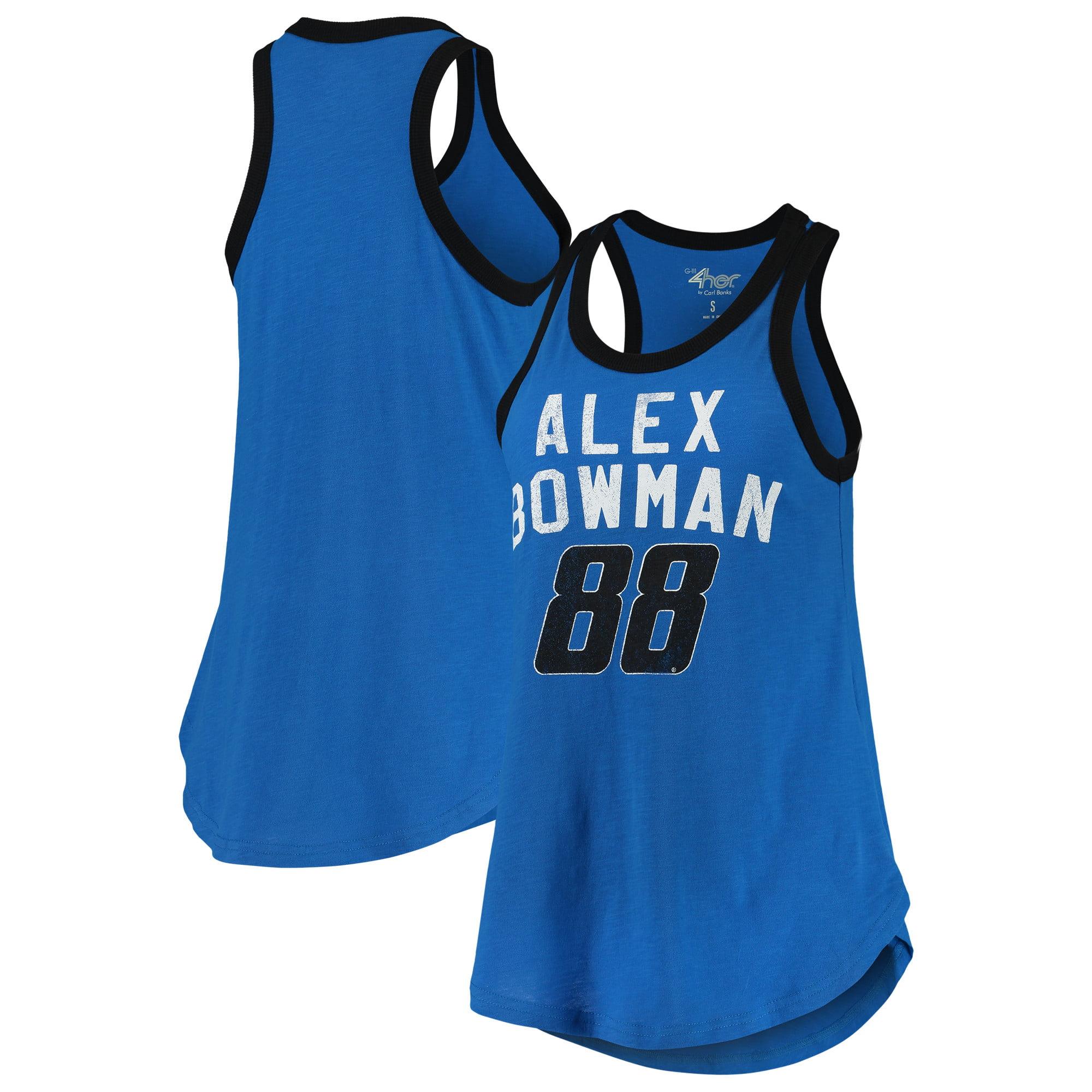 Alex Bowman G-III 4Her by Carl Banks Women's Training Day Tank Top - Light Blue