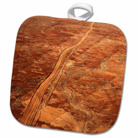 3dRose Desert Track near William Creek, Outback, Australia-AU01 DWA2487 - David Wall - Pot Holder, 8 by 8-inch