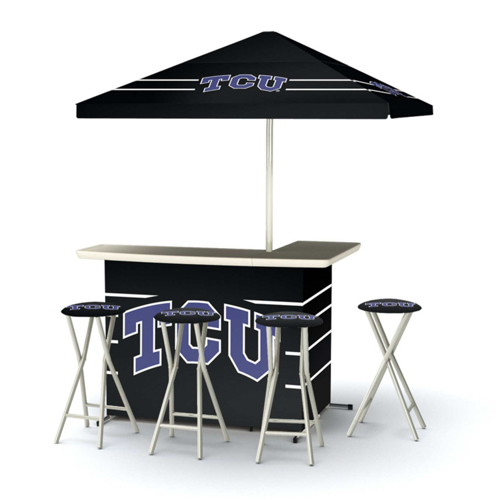 Best of Times Indoor/Outdoor NCAA Portable Bar with 4 Barstools