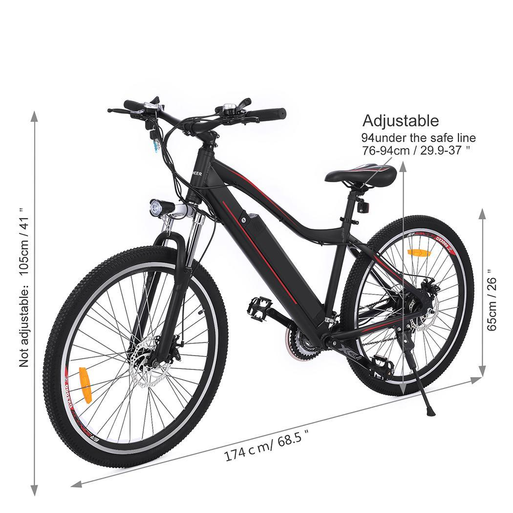HOT SALE! 36V 12A Electric  Bike 26inch Folding Aluminum Electric eBike Bicycle with Removable Lithium Battery  TEAKT