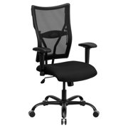 Flash Furniture Hercules Series Big and Tall Mesh Office Chair with Arms, Black