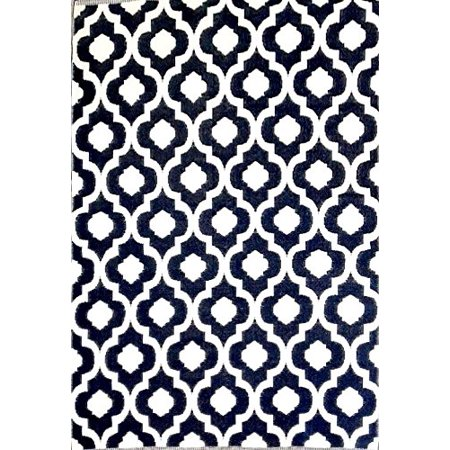 6'x9' Indoor Outdoor Plastic Straw Patio Rug RV Mat Camping Reversible Beach Mat Dark Nv Blue (Outdoor Indoor Patio)