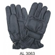 Men's Boys Fashion X Large Size Motorcycle Lightly Lined Leather Riding Gloves With Strap