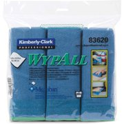 Wypall, KCC83620, Microfiber Cloths, 6 / Pack, Blue