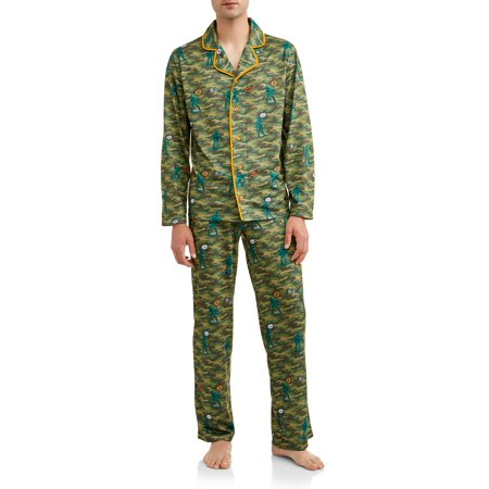 Owl Night Long Camo Army Sleep Set (Mans Onesie)