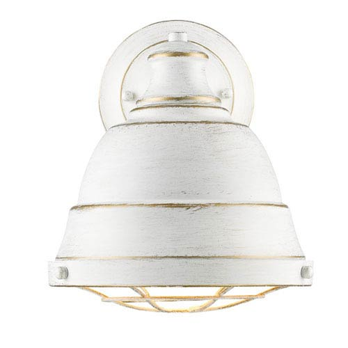 Fulton French White One-Light Wall Sconce with French White Shade by