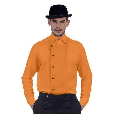 The Pirate Dressing C1293 Ulysses Side-Button Shir, Orange - Large Vinyl Top Dressing