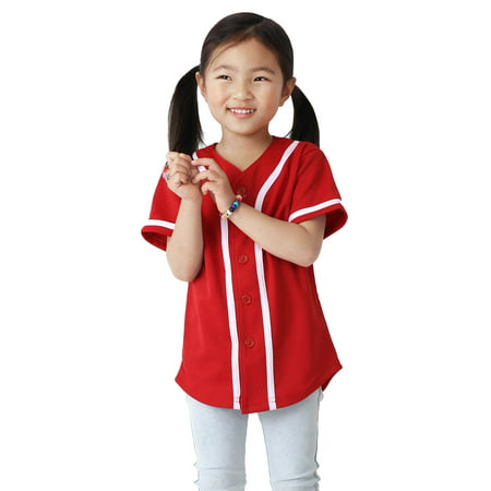 Kids Baseball Button Down Jersey Youth Active Athletic Uniform](Baseball Furies Uniform)