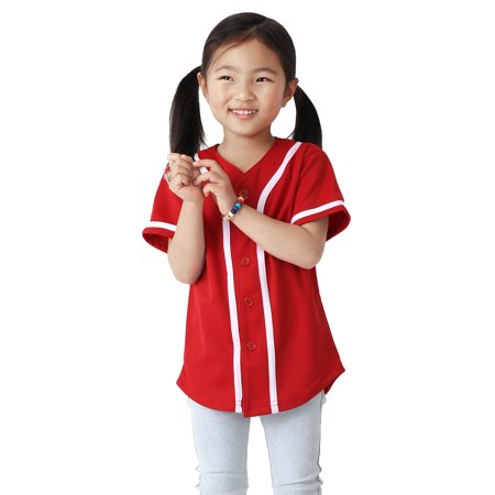 Canada Baseball Jersey - Kids Baseball Button Down Jersey Youth Active Athletic Uniform