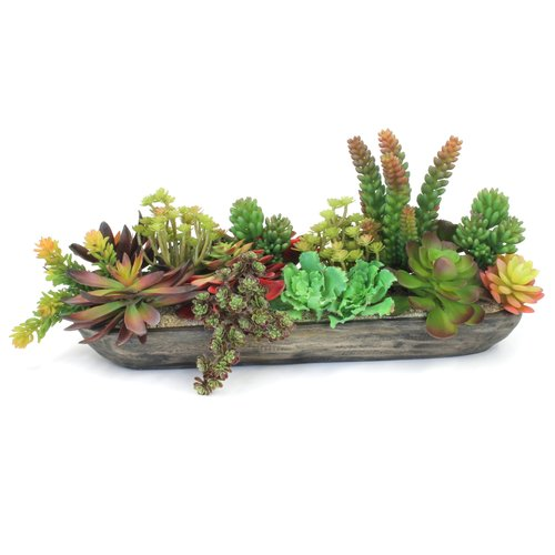 Dalmarko Designs Faux Succulents Centerpiece in Vase
