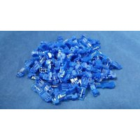 14-18 GAUGE T TAP BLUE 100 PK CRIMP TERMINAL AWG GA CONNECTOR CAR SUV MARINE