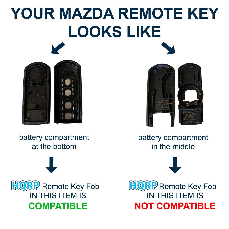 Remote Key Fob Shell Case Keyless Entry for Mazda 6 2009 2010 2011 2012