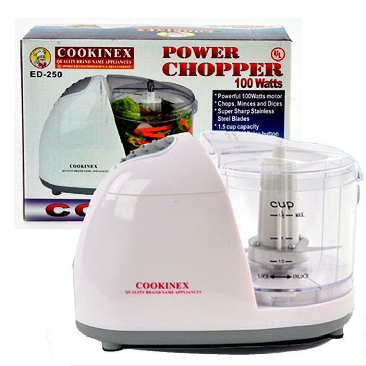 Bestbuy ED250W Cookinex 100w Power Chopper [white] by Cookinex