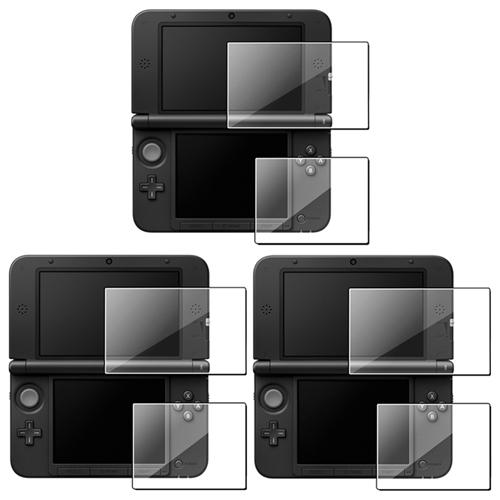 Insten 3 x Clear Top+Bottom Screen Protector 2-LCD Film For NEW 3DS XL LL / 3DS XL LL