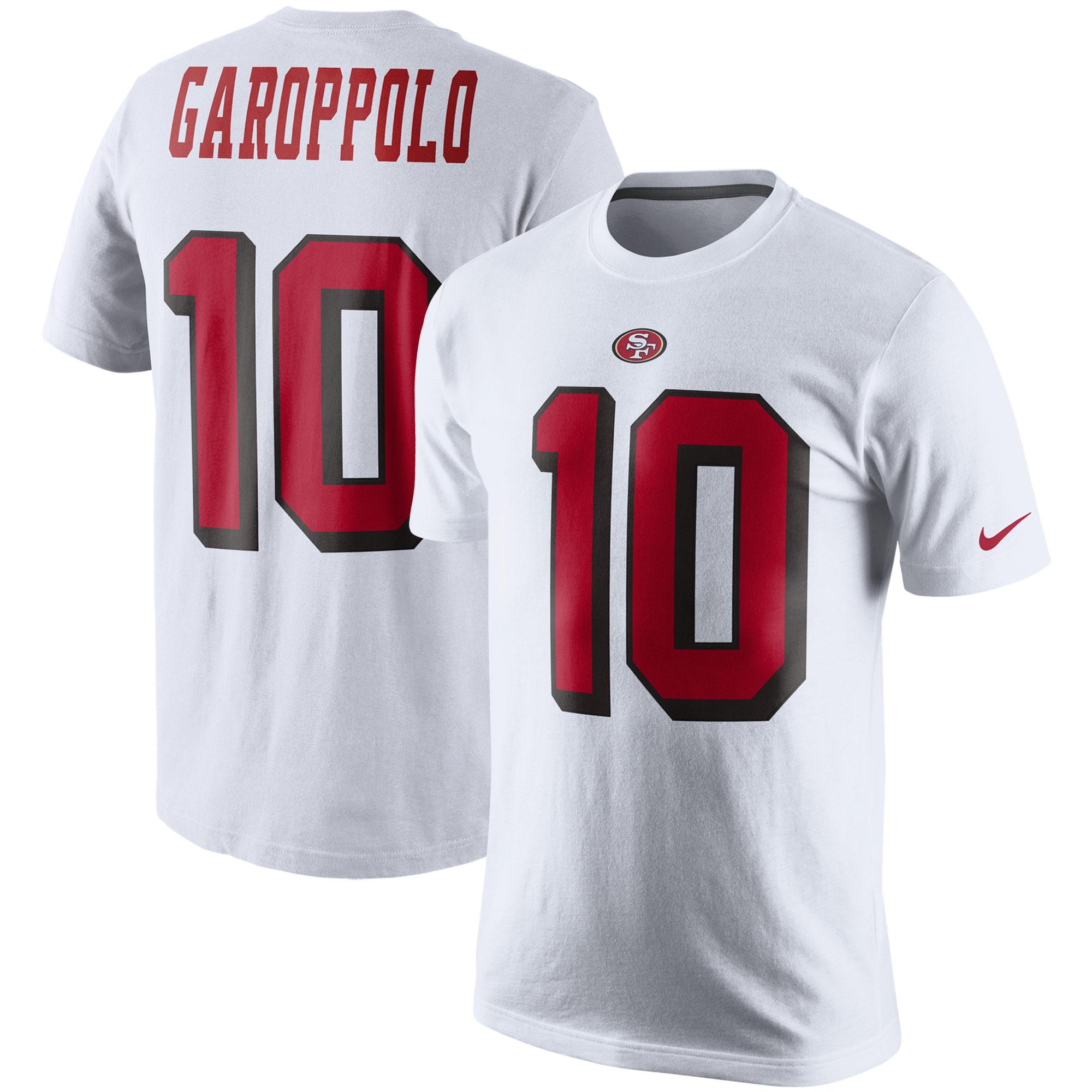 Jimmy Garoppolo San Francisco 49ers Nike Color Rush 2.0 Name & Number T-Shirt - White
