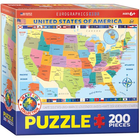 Map of the USA 200-Piece Puzzle - Usa Puzzle Map