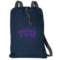 Cotton Canvas Texas Christian University Backpack Natural Fiber Texas Christian University Cinch Bag Lined and with Wide Straps