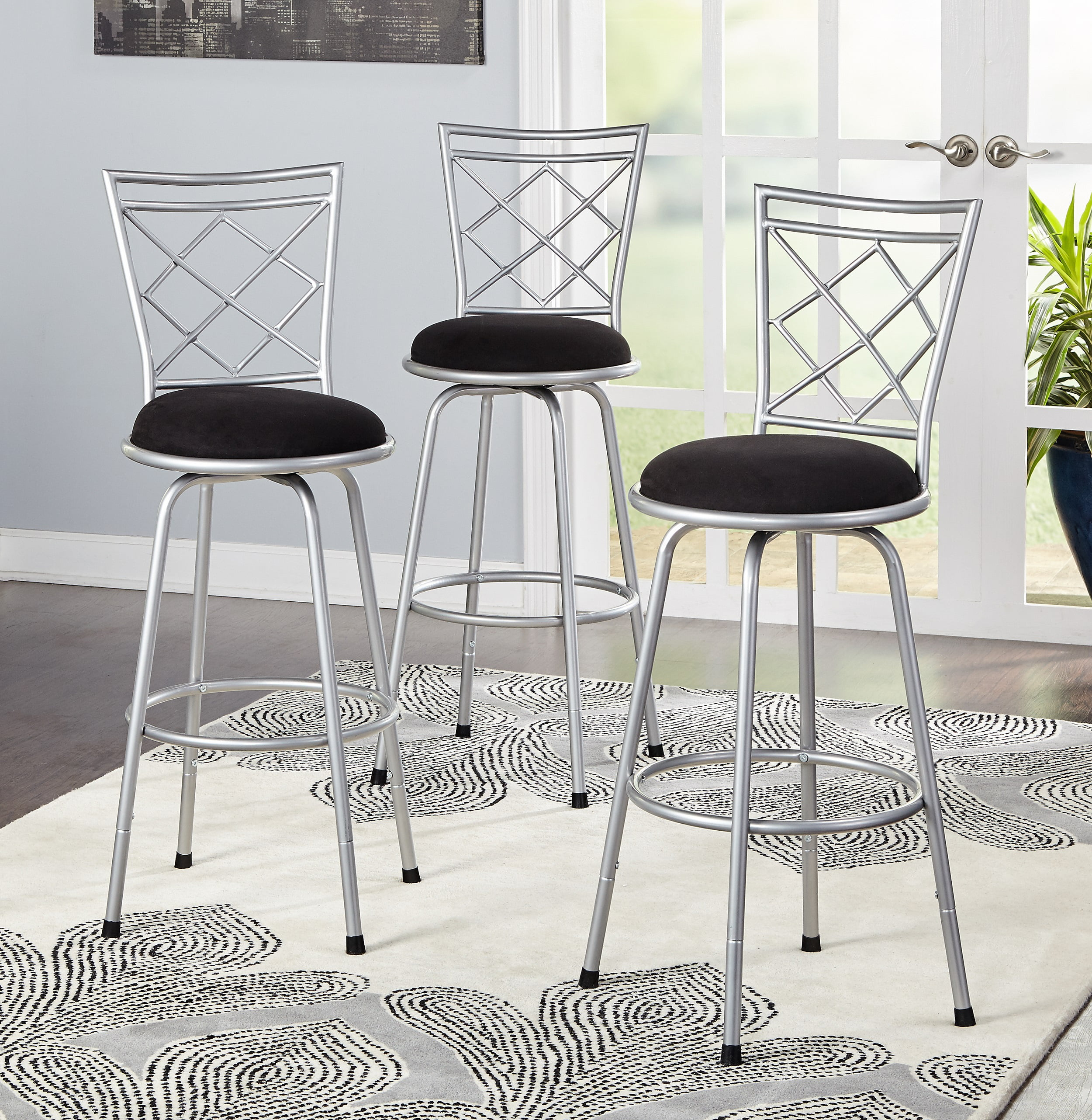 3 Piece Avery Adjustable Height Barstool Multiple