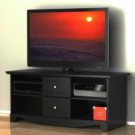 visions black tv stand for tvs up to 60. Black Bedroom Furniture Sets. Home Design Ideas