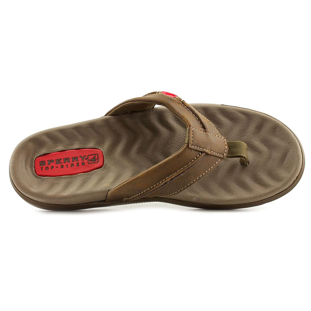 e087cc518204 SPERRY TOP - SIDER - Sperry Top Sider Double Marlin Men US 8 Brown Thong  Sandal - Walmart.com