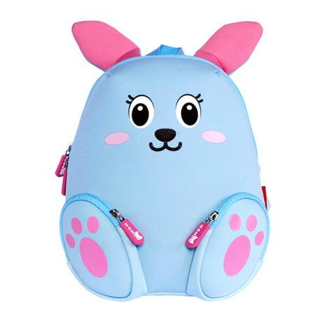 Nohoo Neoprene Animal Blue Bunny Little Backpack Kids
