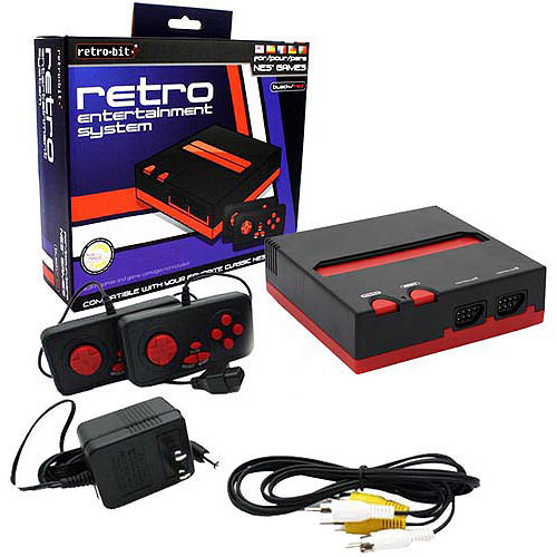 RETRO-BIT Top Loader 8-Bit NES System, Black and Red (NES)