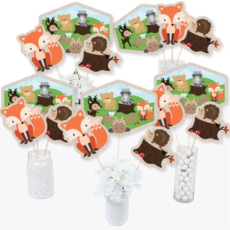 Woodland Creatures - Baby Shower or Birthday Party Centerpiece Sticks - Table Toppers - Set of 15 - Light Up Table Centerpieces