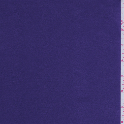 Regal Purple Stretch Charmeuse, Fabric By the Yard