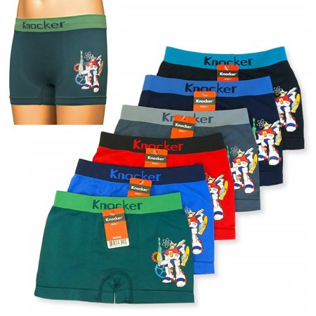 6 Knocker Boys Boxer Shorts Seamless Transformer Spandex Kids Underwear S M L