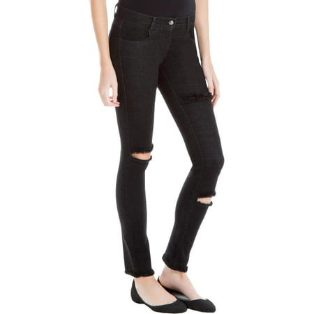 Max Studio Womens Seraphine Denim Distressed Skinny Jeans
