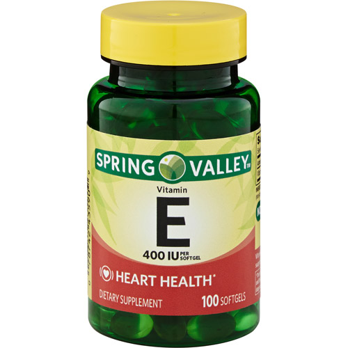 Spring Valley E Vitamin Heart/Immune Health Dietary Supplement 100 Ct