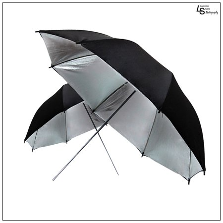 Deals 40″ Professional Black/Silver Reflective Umbrella Set of Two for Photography and Video Lighting by Loadstone Studio WMLS0200 Before Too Late