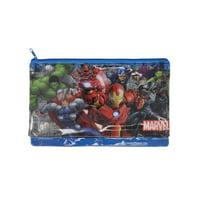Boys Avengers Large Zipper Pencil Pouch 3-Ring Holder Iron Man Thor Hulk Gamora