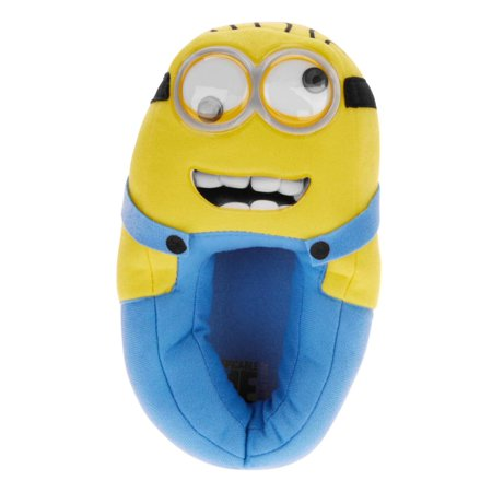 Despicable Me Boys Google Eye Minion Slippers Character House Shoes - Despicable Me Adult Slippers