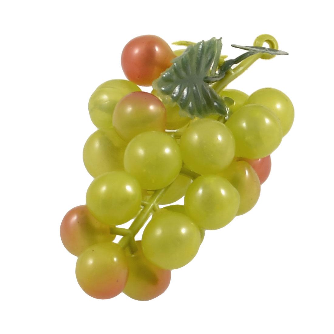 Unique Bargains Artificial Green Plastic Grape Simulation Fruit Ornament Decor