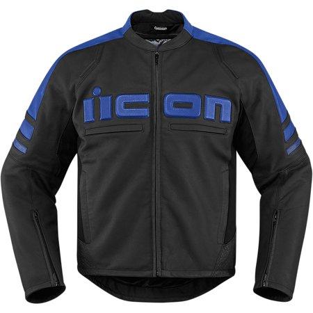 Icon Motorhead 2 Leather Jacket Blue (Black,