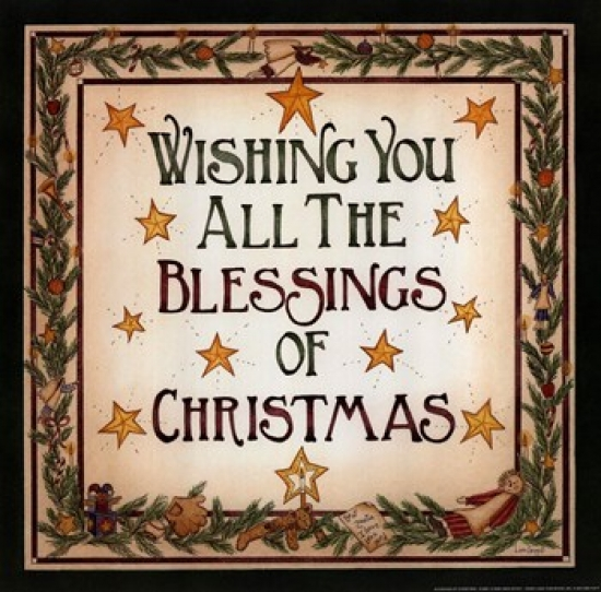 Blessings of Christmas Poster Print by Linda Spivey (12 x 12)